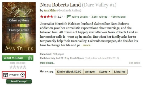 Nora Roberts Land on GoodReads